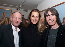 Jonathan Wylder, Yasmin Le-Bon & Chris Bissell at the unveiling of Jonathan Wylder's Yasmin bronze on 24th November