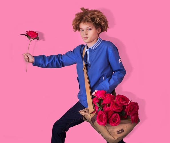 Valentines Boy holding rose